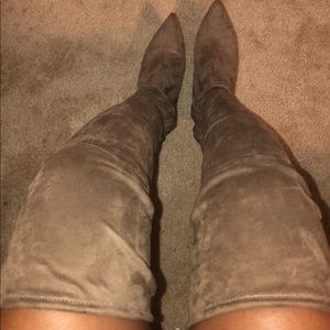 Over the knee boots , have stretch